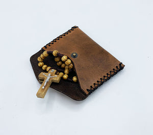 Leather Rosary Pouch