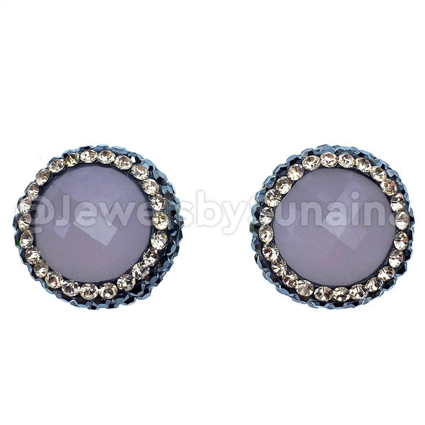 ROUND CRYSTAL STUDS