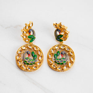 LOLA GOLD PEACOCK EARRINGS