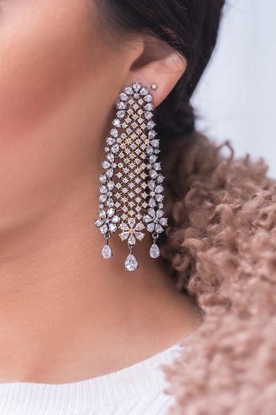 SOPHIA Dangly Crystal Earrings