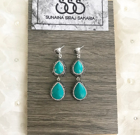 Double Drop in Turquoise