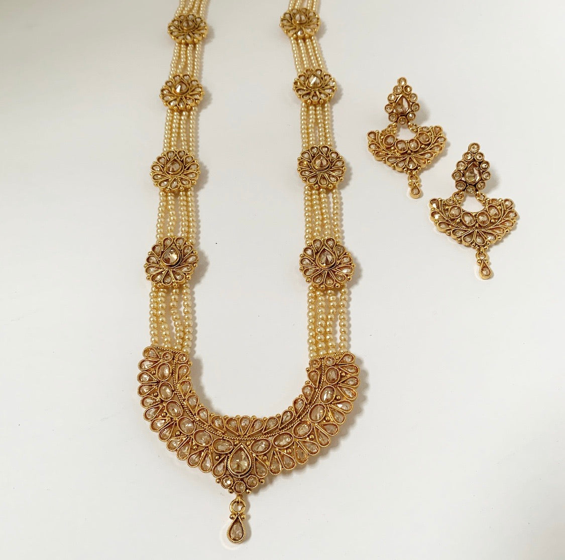 PEARL GOLD LONG SET