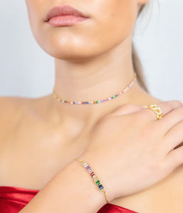 ROSY Multi Color Bar Bracelet