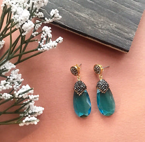 BLUE GEMSTONE EARRINGS