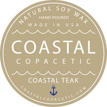 Coastal Teak - Natural Soy Wax Candle Travel Tin