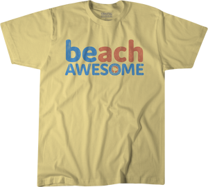 BEach Awesome™ Sunshine Yellow T-Shirt (American Pima Cotton)
