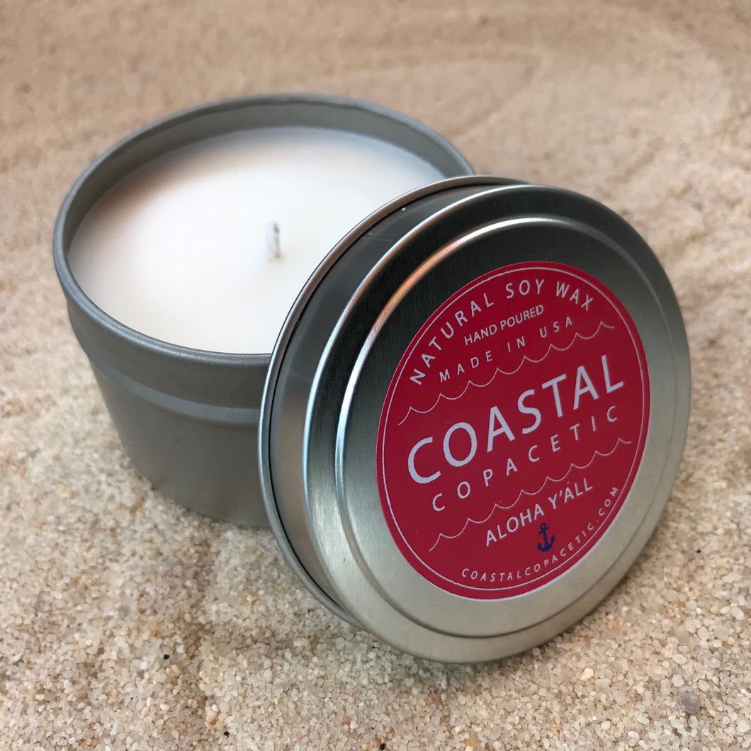 Aloha Y'all - Natural Soy Wax Candle Travel Tin