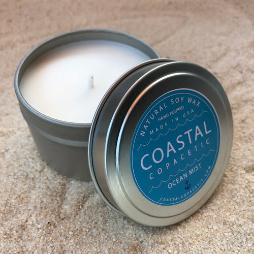 Ocean Mist - Natural Soy Wax Candle Travel Tin