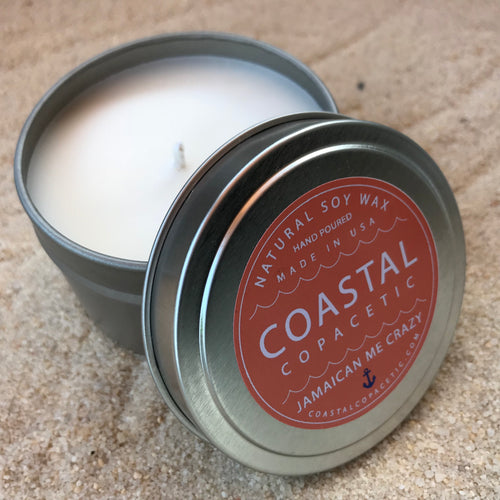 Jamaican Me Crazy - Natural Soy Wax Candle Travel Tin