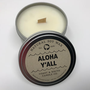 Aloha Y'all - Wood Wick Soy Wax Candle