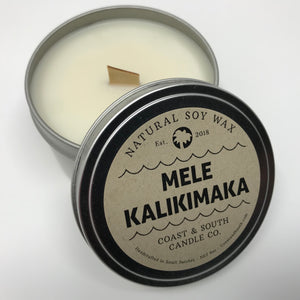 Mele Kalikimaka - Wood Wick Soy Wax Candles