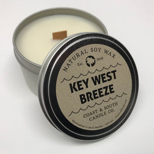 Key West Breeze - Wood Wick Soy Wax Candle