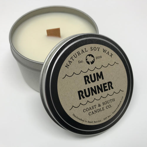 Rum Runner - Wood Wick Soy Wax Candle