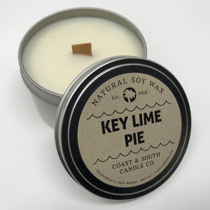 Key Lime Pie - Wood Wick Soy Wax Candle