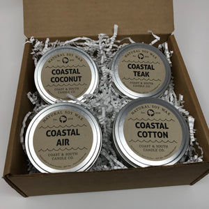 Coastal Collection - Wood Wick Soy Wax Candles