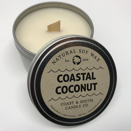 Coastal Coconut - Wood Wick Soy Wax Candle