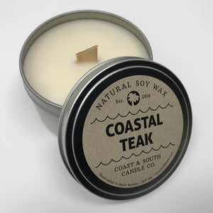 Coastal Teak - Wood Wick Soy Wax Candle