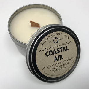 Coastal Air - Wood Wick Soy Wax Candle
