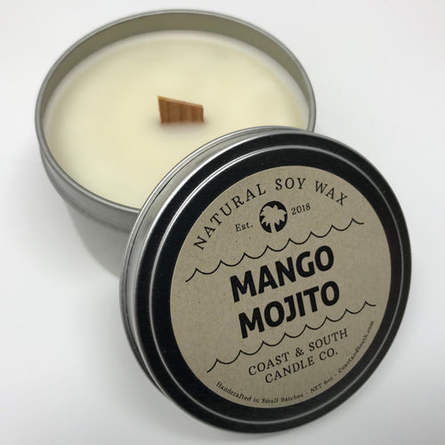 Mango Mojito - Wood Wick Soy Wax Candle