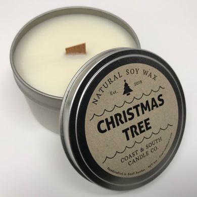 Christmas  Tree  - Wood Wick Soy Wax Candle