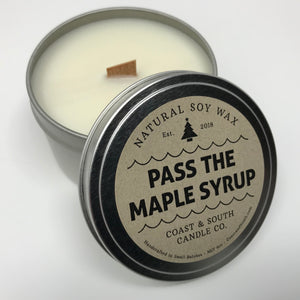Pass The Maple Syrup - Wood Wick Soy Wax Candle