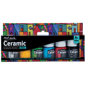 Mont Marte Ceramic Paint Set with 6 Colours