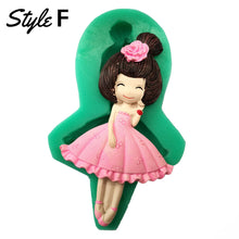 Load image into Gallery viewer, Silicone Mould - Girl Dresses (12 Styles)