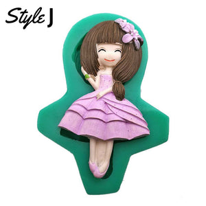 Silicone Mould - Girl Dresses (12 Styles)