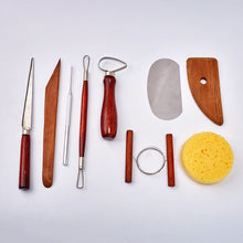 Load image into Gallery viewer, Set of 9 Pottery Tools Starter Kit
