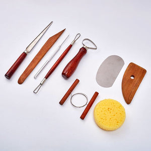 Set of 9 Pottery Tools Starter Kit