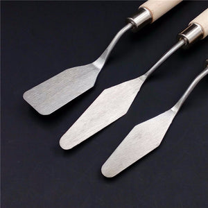 Set of 3 Stainless Steel Palette Knives