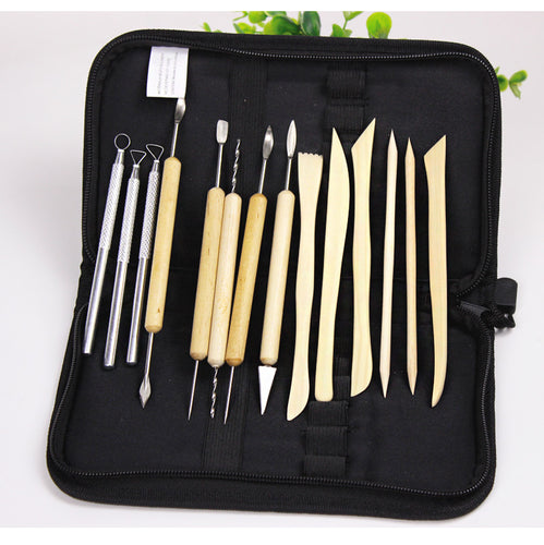 Set of 14 Pottery Tools Starter Kit