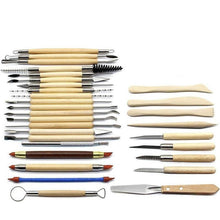 Load image into Gallery viewer, Set of 30 Pottery Tools Starter Kit