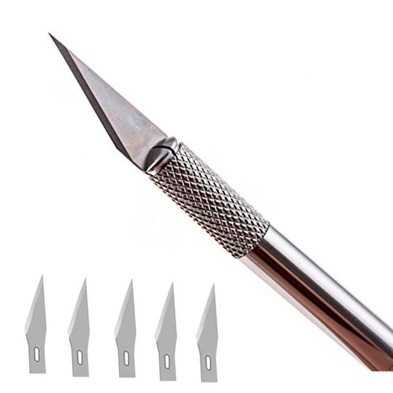 Precision Knife with 5 Extra Blades