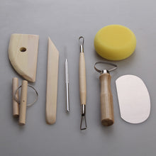 Load image into Gallery viewer, Set of 8 Pottery Tools Starter Kit