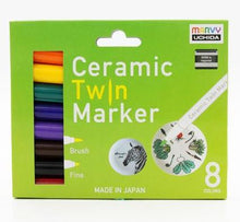 Load image into Gallery viewer, Box of 8 Ceramic Twin Tip Markers