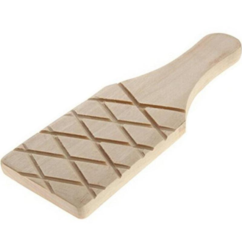 Grooved Wooden Paddle
