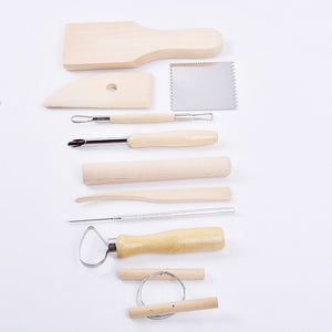 Set of 10 Pottery Tools Starter Kit (A)