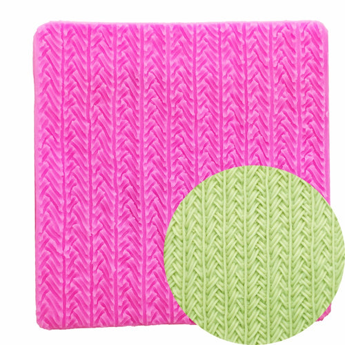 Silicone Mould - Knitted Wool Texture