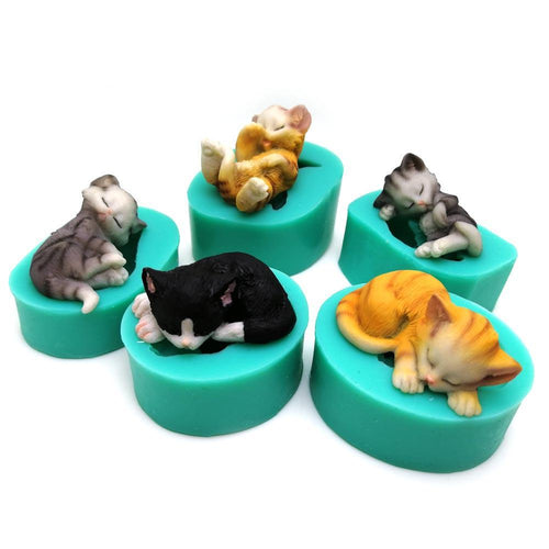 Silicone Mould - Cats (5 Styles)