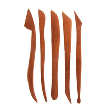 Load image into Gallery viewer, Set of 5 Rosewood Sculpture Knives