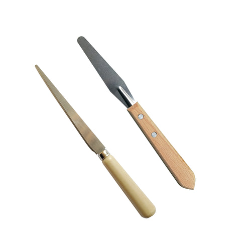 Set of 2 - Clay Fettling Knife & Palette Knife