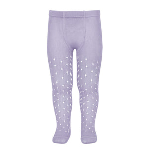 Perle Openwork Tights - Lavender
