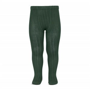 Wide Rib Tights - Forest Green