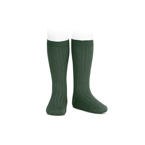 Wide Ribbed Knee High Socks - Amazon