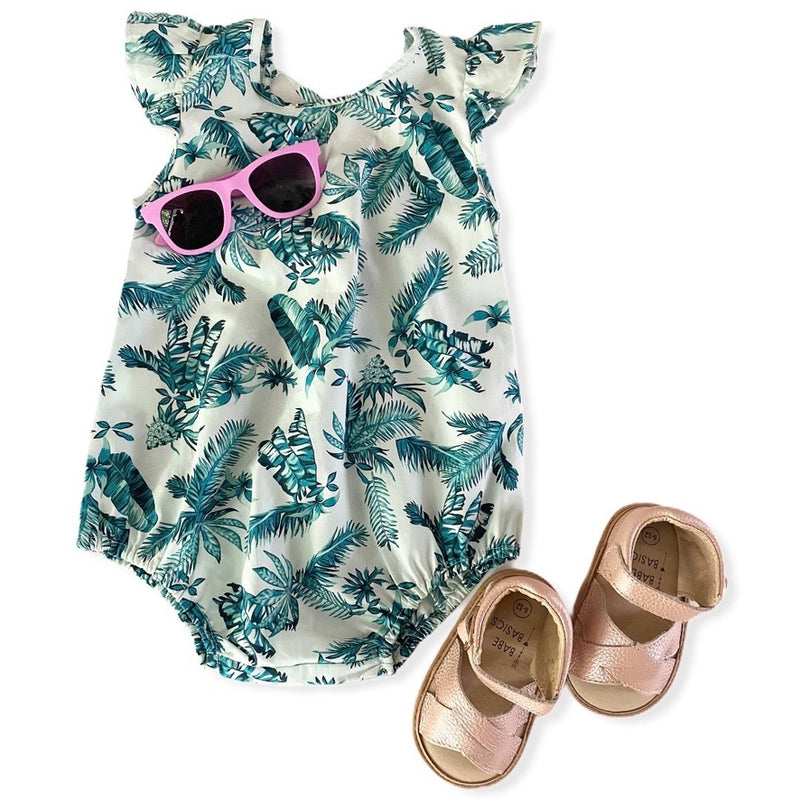 Leaf Bodysuit {Teal}
