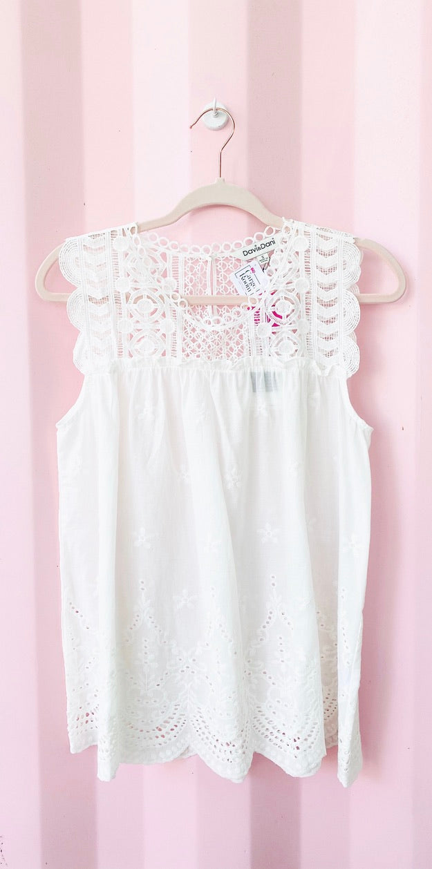 Lace Accent Blouse