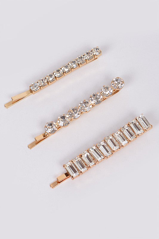 Jeweled Rhinestone Hairpin Set