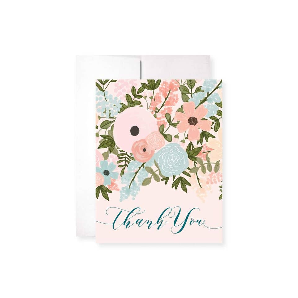 Pastel Garden Thank You Greeting Card
