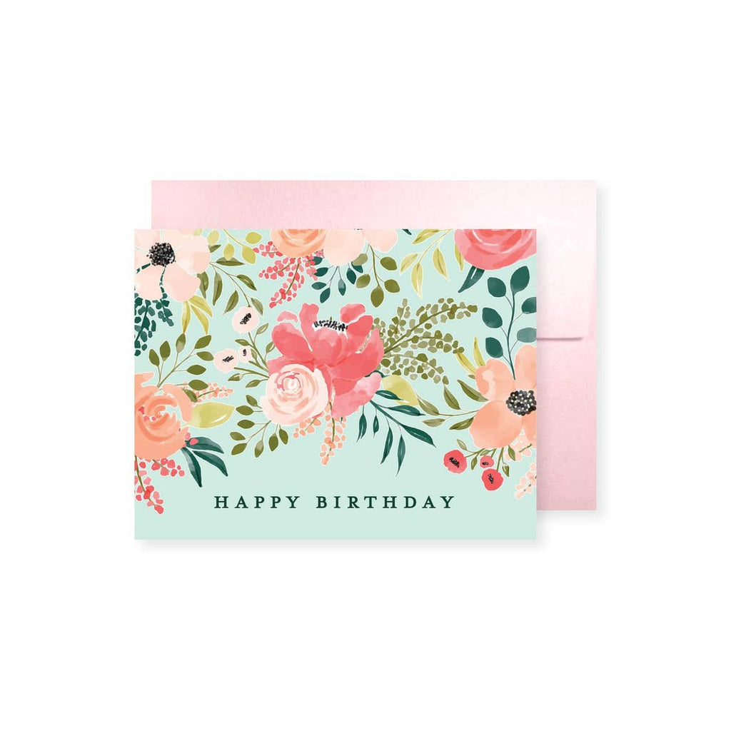 Peach Petals Birthday Greeting Card